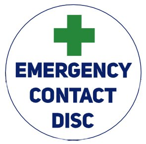 Emergency Medical Contact Disc