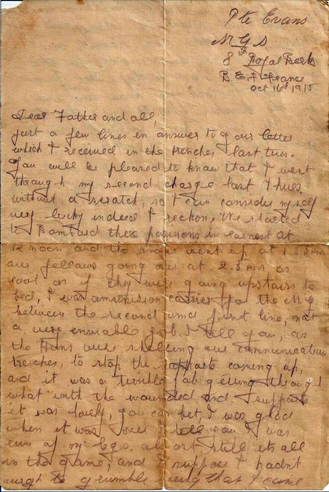 Evans Fred letter 01