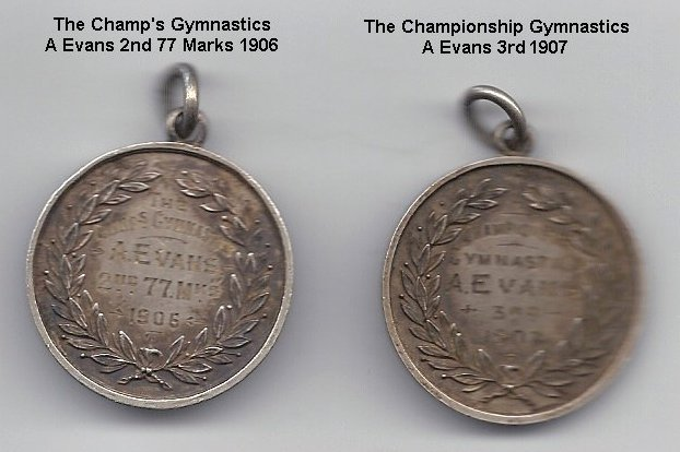 Evans Fred school medals